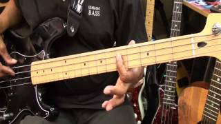 SLIDE Slave How To Play On Bass Guitar Funky Friday Mark Adams Style Lesson Tutorial