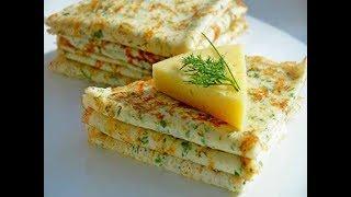 Блины с зеленью и сыром