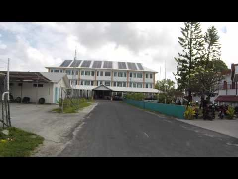 Tuvalu Funafuti Centre ville, Gopro / Tuvalu Funafuti City center, Gopro
