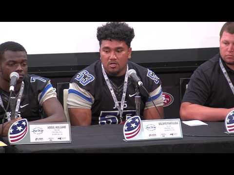 Encinal High School Football team at the 49ers media day