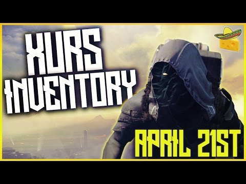 "DESTINY ""XUR LOCATION AND INVENTORY COUNTDOWN"" APRIL 21ST LIVESTREAM w/ SORABLE"