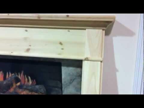Arts & Crafts Style Pine Fireplace Mantel