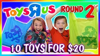 Kayla and Tyler find 10 items for 20 dollars or less at Toys R Us. ...