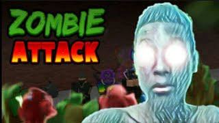 Playing zombie Atacki in Roblox