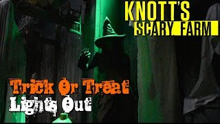 Trick or Treat Lights Out Maze Walkthrough Knott's Scary Farm 2017