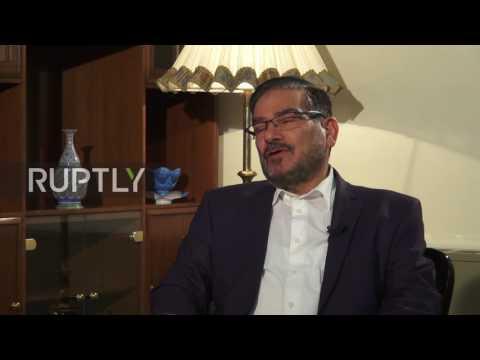 Iran: SNSC's Shamkhani talks Russian airstrikes from Hamadan airbase