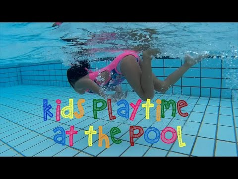 Kids Playtime at the pool of Park Royal Hotel Singapore