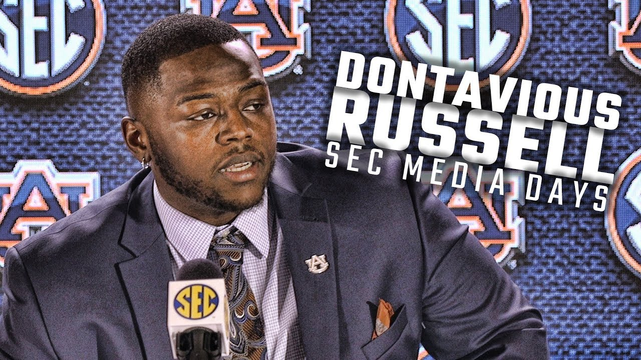 hear-what-auburn-dt-dontavious-russell-had-to-say-at-sec-media-days-2018