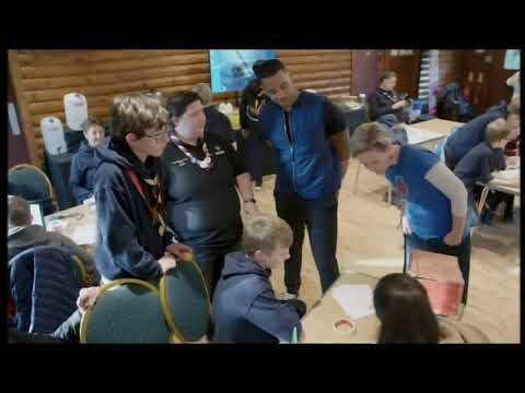 Reggie Yates with Scouts at Gilwell Park feature on ITV London News - 10th Nov 2019
