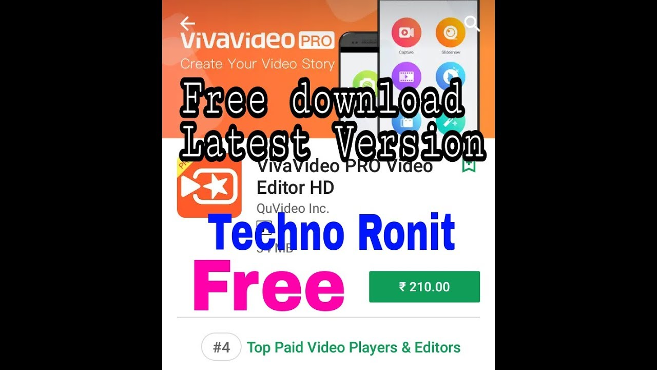 VivaVideo Pro Video Editor Pro App latest Apk Mod for Android(No Root  Without Free APK