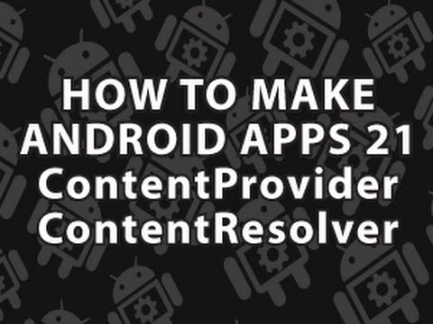 How to Make Android Apps 21