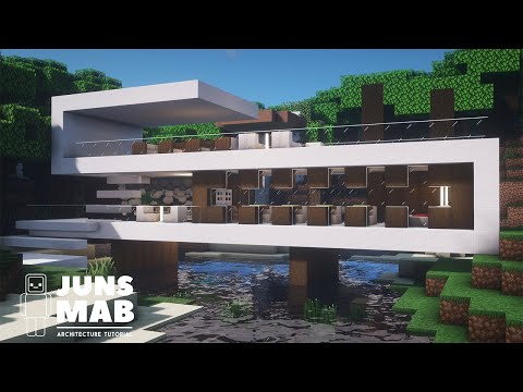 Minecraft : Modern House Tutorial |How to Build in Minecraft (#137)