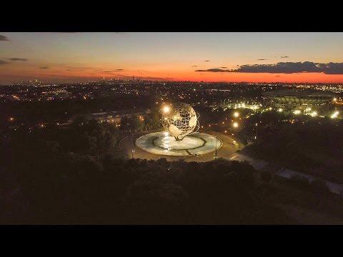 Beautiful NYC  World's Fair Sunset - Flushing Meadows Corona Park