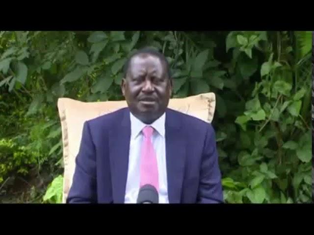 Raila Odinga URGENT message to Kenyans