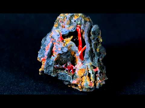 Crocoite - Adelaide Mine, Dundas, Tasmania, Australia