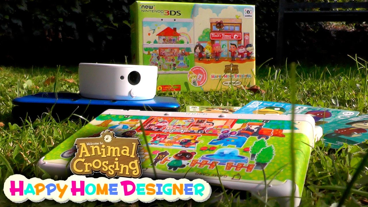 Animal Crossing Happy Home Designer 3DS Unboxing & Amiibo Card How on xbox home, wii home, playstation 4 home,