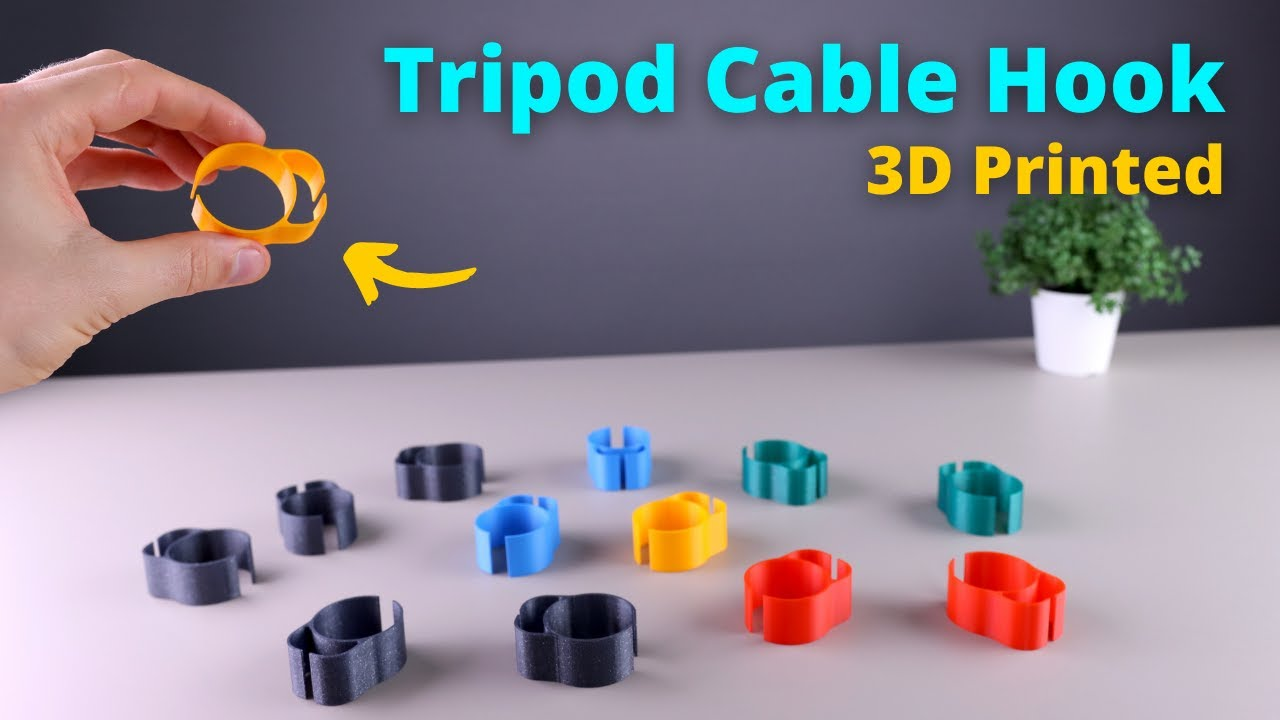 How to Design and 3D Print a Cable Hook for Tripods