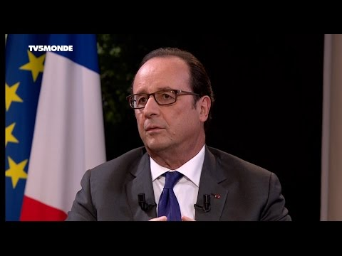 INTERVIEW EXCLUSIVE DE FRANÇOIS HOLLANDE SUR TV5MONDE, FRANCE 24 ET RFI