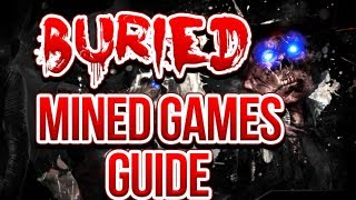"Black Ops 2 ZOMBIES ""Buried"" - ""MINED GAMES"" - Easter Egg Achievement Guide! (Maxis)"