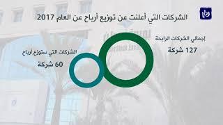 النتائج المالية الأولية للشركات المدرجة في بورصة عمّان للعام 2017 - (27-3-2018)
