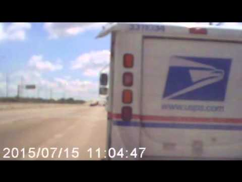 usps-van-nearly-causes-big-accident-in-houston-texas---skywind007