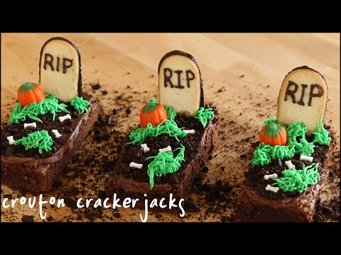 Graveyard Brownies for Halloween!! - YouTube