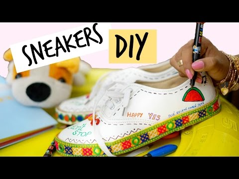 DIY: The CUTEST Customized Sneakers | Sejal Kumar