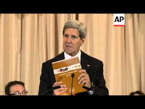 Secretary of State John Kerry launched the annual U.S. assessment of how 188 governments around the