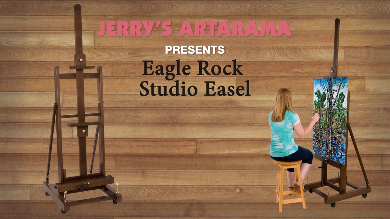 Eagle Rock Crank Assisted H-Frame Studio Easel - Product Demo - YouTube