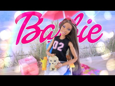 Unbox Daily:  Barbie Poolside Fun Picnic Play Set | Dollhouse Furniture & Accessories | 4K