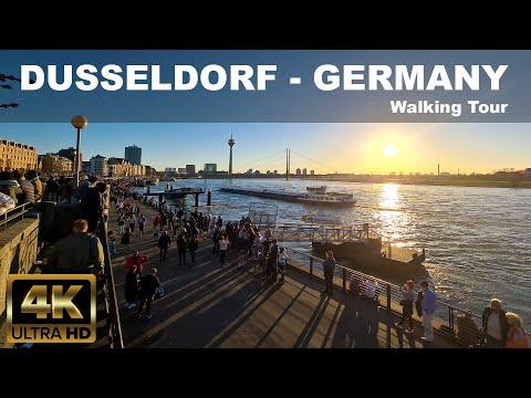 🇩🇪 DUSSELDORF - Germany  | Walking Tour |  4K UHD | 2021