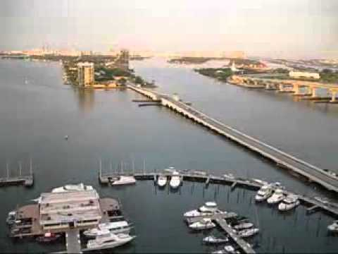 Miami Holiday,Venetian Causeway Aereal View