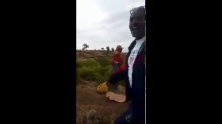 Ethiopian man begging in the name of Mengistu Hailematiam