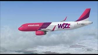 AIRBUS A320 214 SHARKLETS HA LPR WIZZAIR COM LANDING AT BUDAPEST INTL AIRPORT FS9 HD