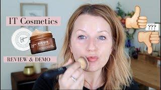 IT Cosmetics Bye Bye Redness Correcting Cream Demo/ Foundation Routine