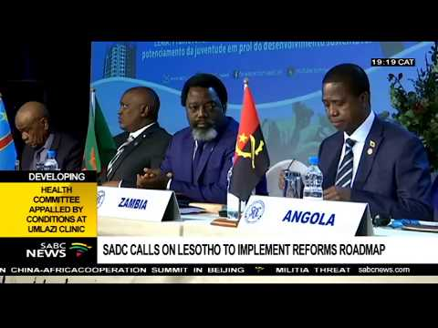 SADC calls on Lesotho to implement its reforms roadmap