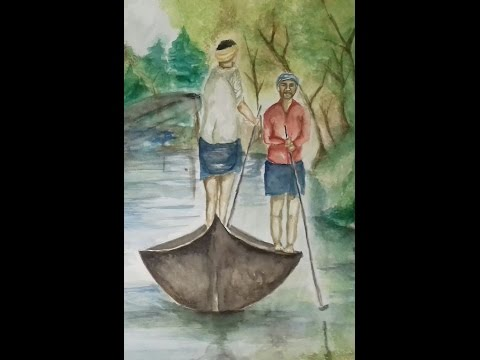 water colour composition painting
