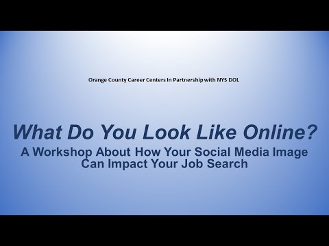 Social Media And Your Job Search | Orange County NY Career Center