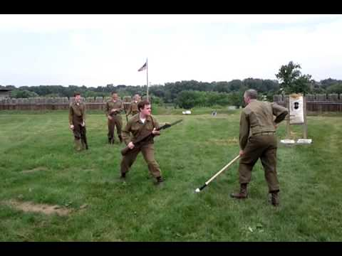 5TH RANGERS BAYONET TRAINING MUSTER ON MAUMEE 2011