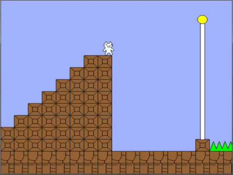 Cat Mario Walkthrough Level