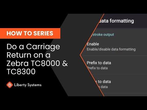 How to do a Carriage Return on TC8000/TC8300
