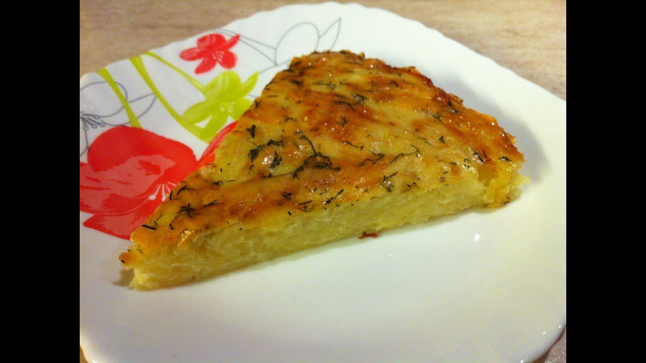 Картофельная запеканка с сыром в духовке рецепт