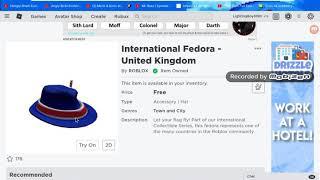 How to get the International Fedora- United Kingdom