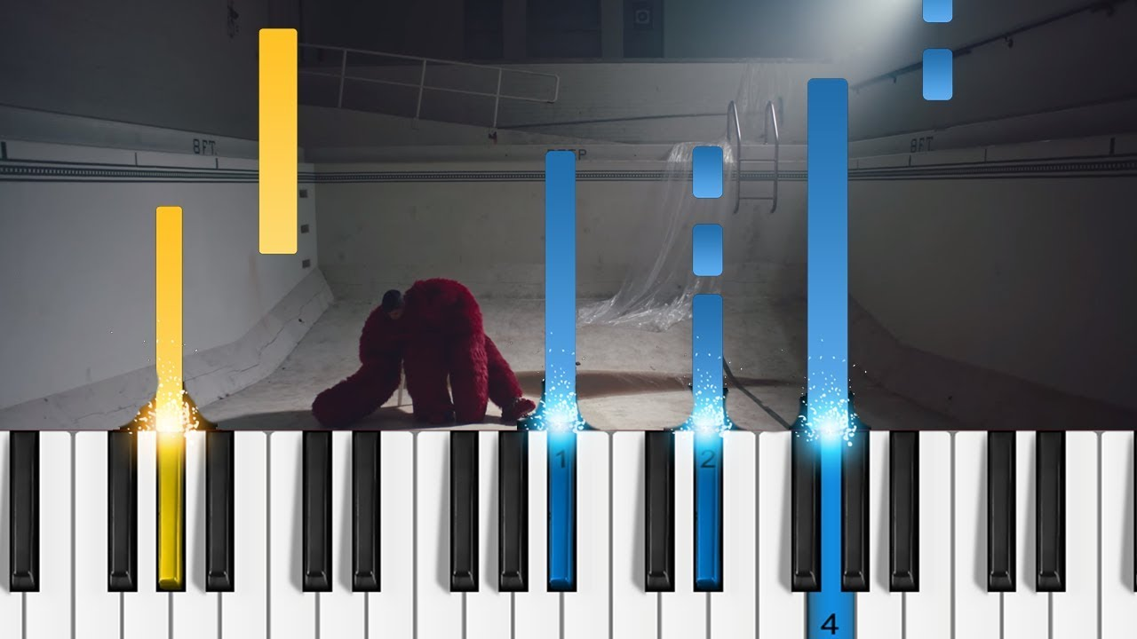 joji - Demons - EASY Piano Tutorial