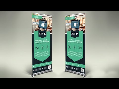 How To Design Professional Roll Up Banner   Photoshop Tutorial