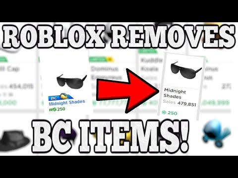 ROBLOX SECRETLY REMOVES BC ONLY ITEMS! (ROBLOX PREMIUM)