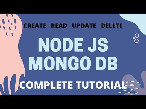 NodeJS MongoDB Complete Tutorial