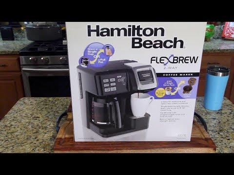 Hamilton Beach FlexBrew Coffee Maker Review (Kcups & Pot)