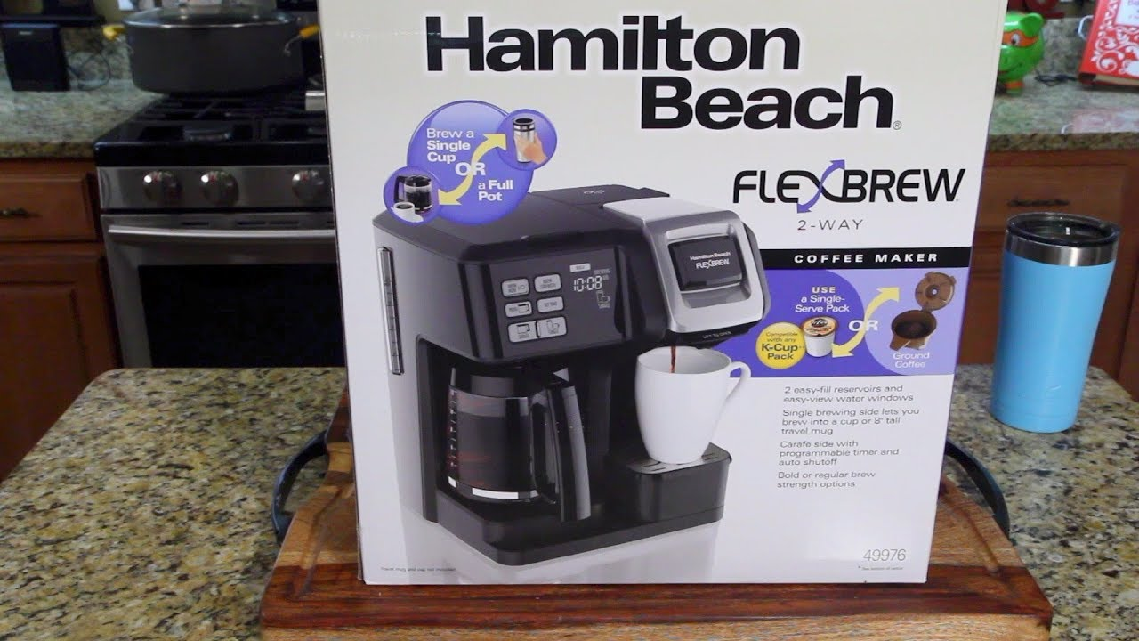Hamilton Beach Flexbrew Coffee Maker Review Kcups Pot Youtube