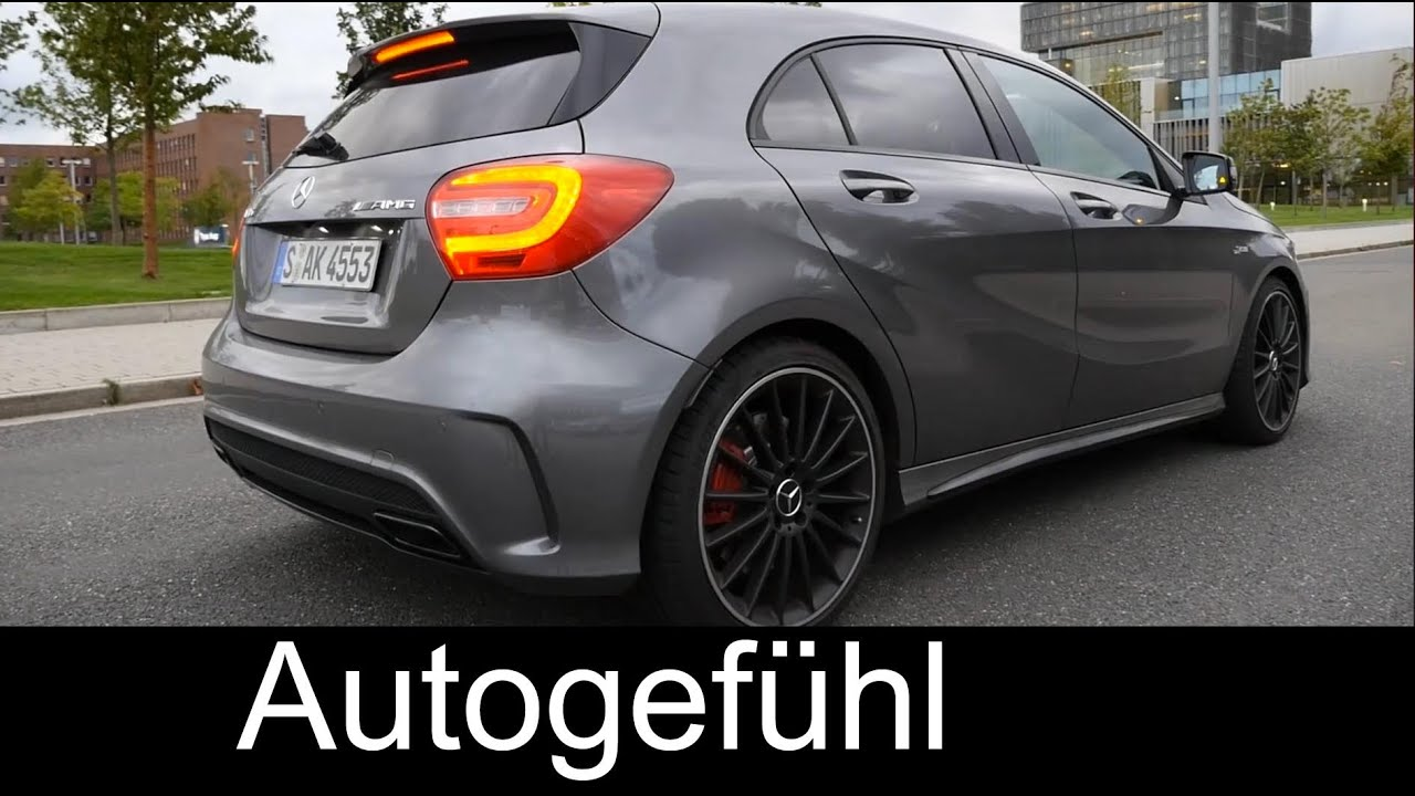 2015 mercedes a class a45 amg test drive review a klasse amg autogef hl youtube. Black Bedroom Furniture Sets. Home Design Ideas